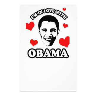 I'm in love with Obama Stationery