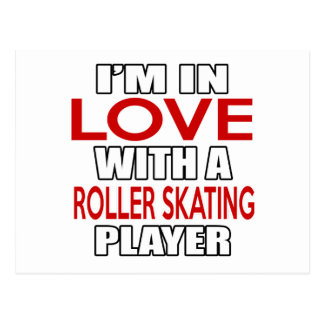 I'm in love with ROLLER SKATING Player Postcard