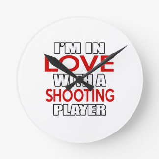 I'm in love with SHOOTING Player Round Wallclock