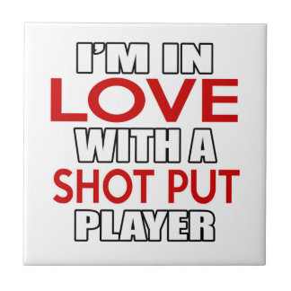 I'm in love with SHOT PUT Player Small Square Tile