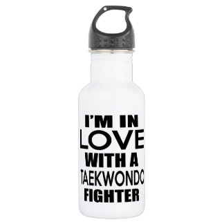 I'M IN LOVE WITH TAEKWONDO FIGHTER 18OZ WATER BOTTLE