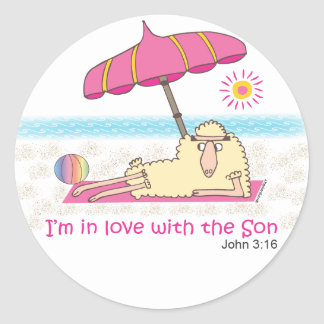 I'm in Love with the Son Round Stickers