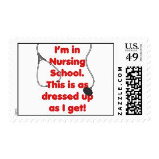 I'm in Nursing School - dressed up Postage