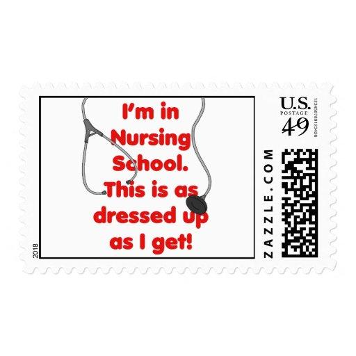 I'm in Nursing School - dressed up Stamp