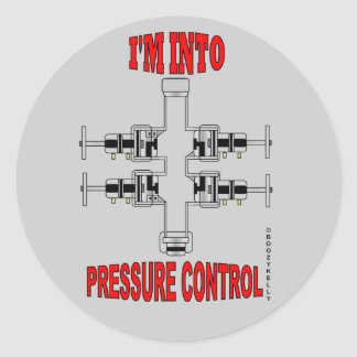 I'm In Pressure Control,Slickline Sticker,BOP,Oil Classic Round Sticker