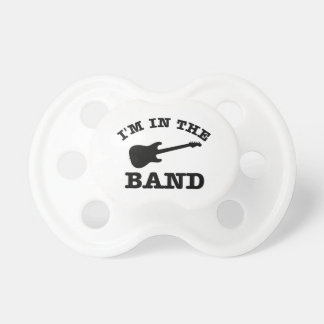 I'm in the band electric guitar designs baby pacifier