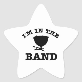 I'm in the band Kettle drum designs Star Sticker