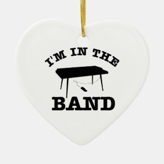 I'm in the band Keyboard designs Ceramic Ornament