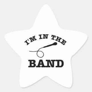 I'm in the band Lead Vocalist designs Star Sticker