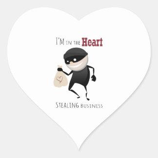 I'm In The Heart Stealing Busine Heart Sticker