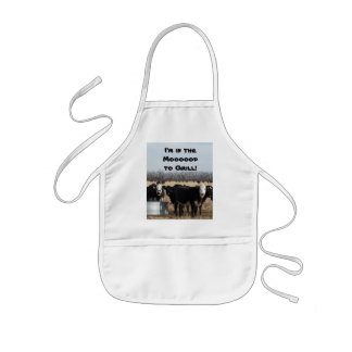 I'm in the Moooood to Grill! Kids' Apron