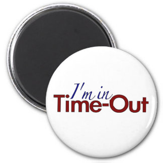 I'm in Timeout (boys) Refrigerator Magnet
