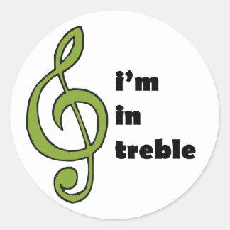I'm in Treble Classic Round Sticker