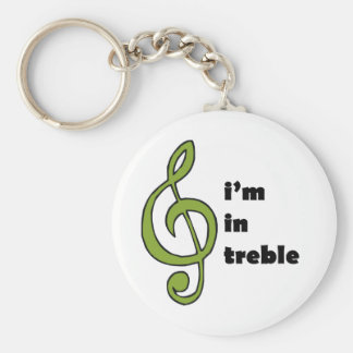 I'm in Treble Keychain