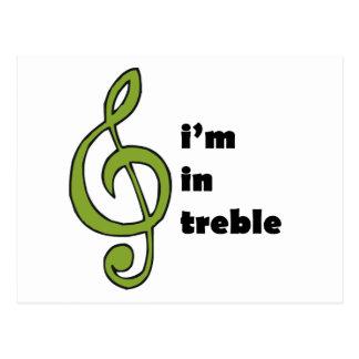 I'm in Treble Postcard