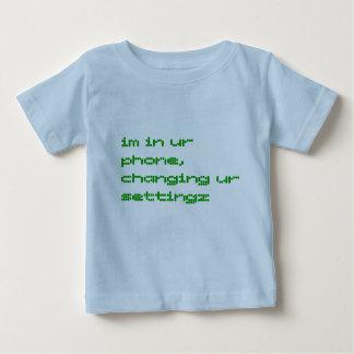 im in ur phone, changing ur settingz infant t-shirt