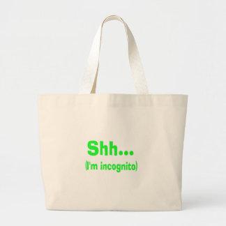 I'm Incognito Canvas Bags