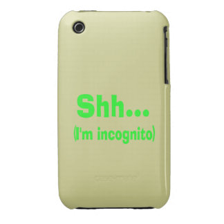 I'm Incognito - Beige Background Color iPhone 3 Case-Mate Cases