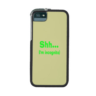 I'm Incognito - Beige Background Color iPhone 5/5S Case