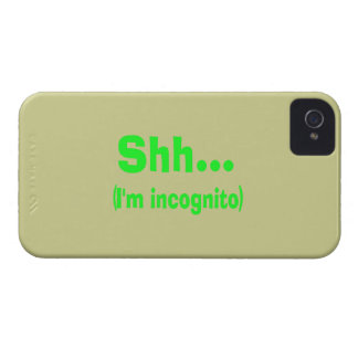 I'm Incognito - Beige Background Color Case-Mate iPhone 4 Cases