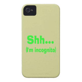 I'm Incognito - Beige Background Color iPhone 4 Case-Mate Case