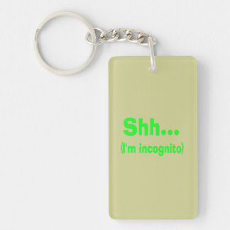 I'm Incognito - Beige Background Color Keychain