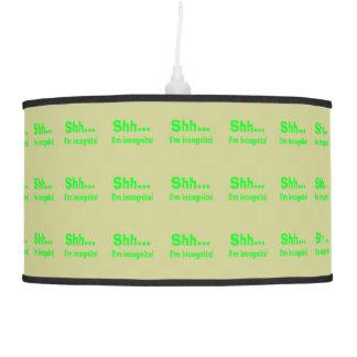 I'm Incognito - Beige Background Color Pendant Lamp