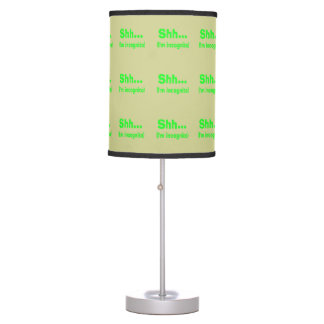 I'm Incognito - Beige Background Color Table Lamps