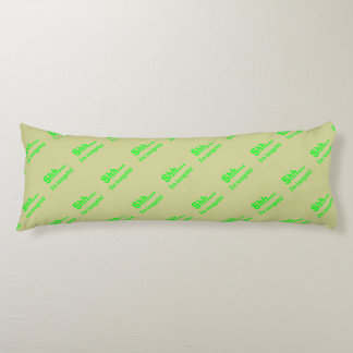 I'm Incognito - Beige Background Color Body Pillow