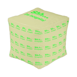 I'm Incognito - Beige Background Color Cube Pouf