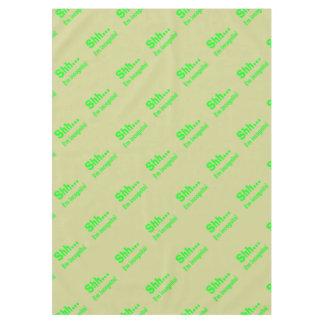 I'm Incognito - Beige Background Color Tablecloth