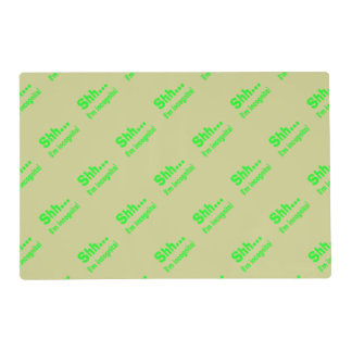 I'm Incognito - Beige Background Color Laminated Place Mat