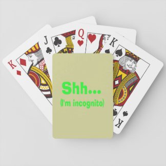 I'm Incognito - Beige Background Color Playing Cards