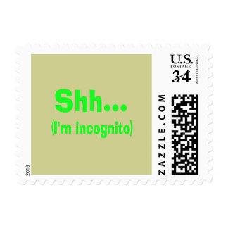 I'm Incognito - Beige Background Color Postage