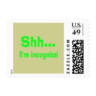 I'm Incognito - Beige Background Color Stamps