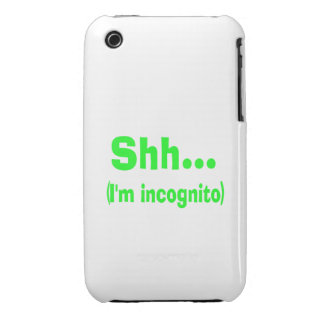 I'm Incognito - Choose Background Color Case-Mate iPhone 3 Case
