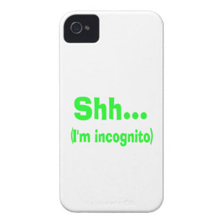 I'm Incognito - Choose Background Color Case-Mate iPhone 4 Cases