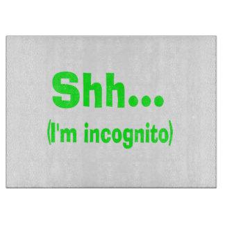 I'm Incognito - Choose Background Color Cutting Board