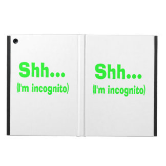 I'm Incognito - Choose Background Color iPad Air Cases