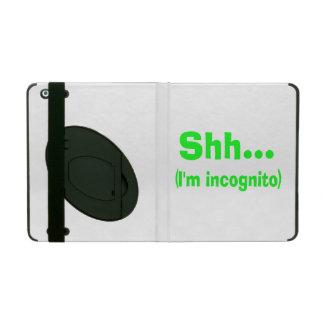 I'm Incognito - Choose Background Color iPad Case