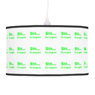 I'm Incognito - Choose Background Color Hanging Pendant Lamps