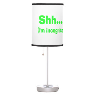 I'm Incognito - Choose Background Color Table Lamps