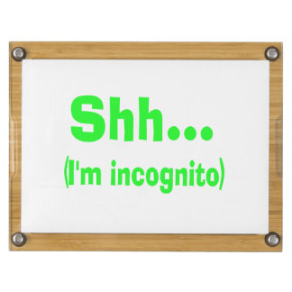 I'm Incognito - Choose Background Color Rectangular Cheeseboard