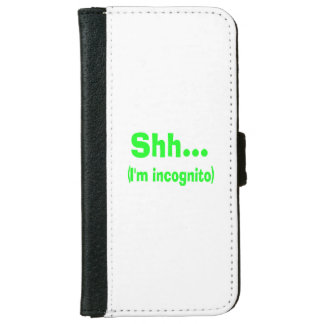 I'm Incognito - Choose Background Color iPhone 6 Wallet Case