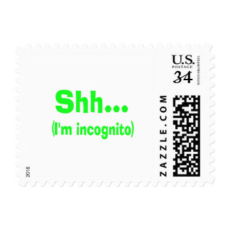 I'm Incognito - Choose Background Color Postage Stamp