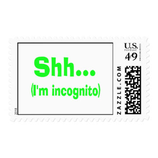 I'm Incognito - Choose Background Color Postage