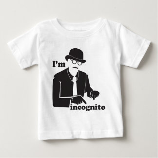 I'm incognito in disguise as a man with a bowler baby T-Shirt