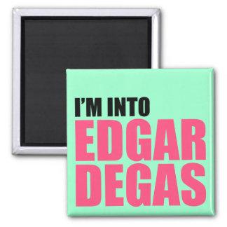I'm Into Edgar Degas 2 Inch Square Magnet