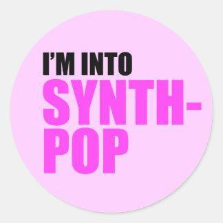 I'm Into Synthpop Classic Round Sticker
