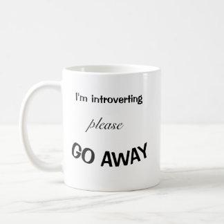I'm Introverting Please Go Away Mug